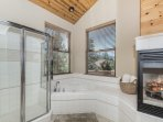 Second Home Master Bathroom with soaking tub!