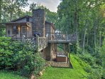 Enjoy views from the hot tub on the patio or from the dining table on the wraparound deck.