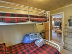 Rest up on the twin-over-full bunk bed.