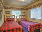 The 3rd bedroom offers 2 twin beds.