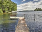This home provides access to a private dock and boat slip for 2,000-lb vessels!
