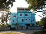 Doorbell is located near the small gate of See Belize Sea View Vacation Rental