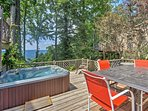 You'll look forward to soaking in the hot tub after a day of hiking.