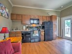 The well-equipped kitchen offers everything you'll need to prepare some of your favorite home-cooked meals.