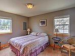 Queen beds can be found in each bedroom