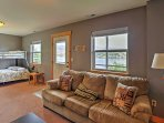 From the entire lake-facing side of the houses, windows offer a view that you'll never forget!