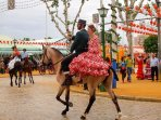 Annual Feria July time each year in La Cala, streets decorated beautifully, horse parade, flamenco!