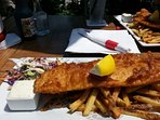 Monday Fish and chips; $10 special at a local eatery.