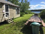 The cottage, ,the lake, the picnic table and grill.  What could be better?!
