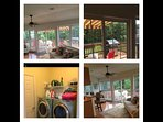 Comfy Sun Room, Great Deck & Awning. Table and Lots of Chairs