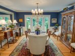Dining room area for gathering and eating with your guests