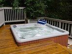 Hot tub for breezy fall nights and cold winters.