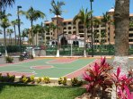 Even a full size basketball court for your enjoyment.