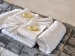 We service the apartment weekly which includes a full linen change and fresh towels