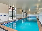 and a heated swimming pool