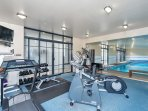 There is a well equipped gym