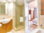 Two modern bathrooms. Ensuite has a separate bath, shower and full laundry facilities.