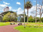 Take a stroll through Albert Park, enjoy the memorial statues, flowerbeds, Victorian fountain and mature trees.