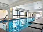 Indoor 22m heated pool and spa