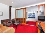Lounge leads onto bedroom.