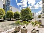 Japanese inspired courtyard.