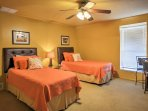 The third bedroom boasts a set of twin-sized beds.