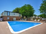 Spend hot summer days by the community Saltwater pool during your stay at this Amarillo vacation rental condo!