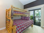 Third guest bedroom on the second floor with a bunk bed - twin over a full