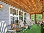Kick back and relax on the screened-in porch.