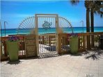 Entrance from the property to the beach