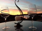 Finish the day with a glass of wine watching the beautiful sunsets