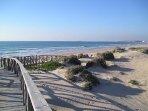 Playa de la Barrosa ( 14 km)