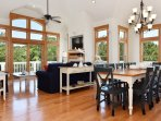 Great room and dining area