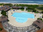 Pine Island Club beach access, beautiful oceanfront pool