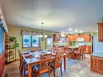 The large, fully equipped kitchen is the perfect place for entertaining.