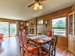 Gather around the dining table to share meals and enjoy quality time together.