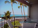The ocean view from the Lanai is spectacular and can't be beat anywhere on the island.