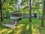 Enjoy comfortable accommodations and a spacious backyard that backs up to Kentucky Lake.