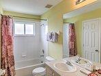 The home has 3.5 pristine bathrooms.