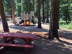 Picnic and kid's play structure is included with rental during summer months