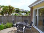 The sunny front decking