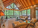 Your Smoky Mountains adventure begins at this Sapphire vacation rental home.