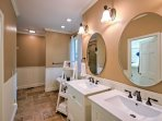 Double vanities make it easy for multiple guests to get ready.
