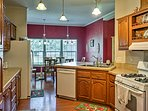 The fully equipped kitchen will satisfy any chef!