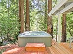 Soak your cares away in the 5-person hot tub.