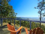 The priceless view of Barrington Tops from the deck of Arinya Lodge!