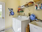 In-unit laundry machines provide you and your guests with the comforts of home.