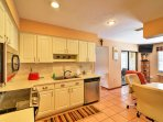 Utilize the fully equipped kitchen to prepare delicious home-cooked meals.