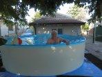 Splashing fun in the cool waters of the splash pool