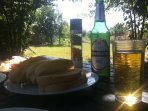 Relax and have lunch in the garden overlooking the stunning Bulgarian countryside